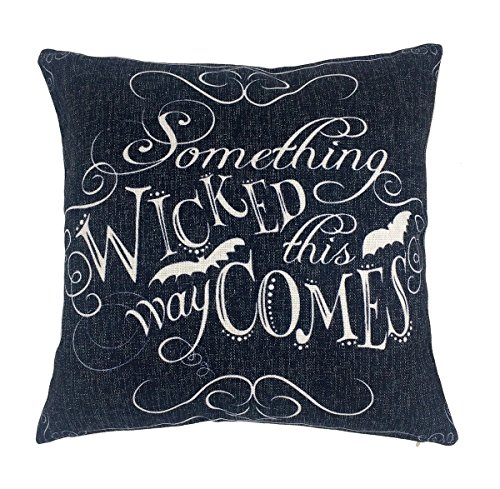 Wicked Chalkboard Halloween Throw Pillow Cover
