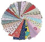 綿 プリント生地  四角形シリーズ 25枚セット DIY縫う手作りの布地 8×8インチ 20×20㎝
