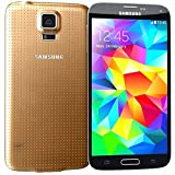 Samsung Galaxy S5 G900H Sim Free Smartphone Factory Unlocked Mobile Phone European Version (GOLD)