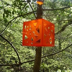 flock-follies contemporary bird feeder (Mandarin orange)