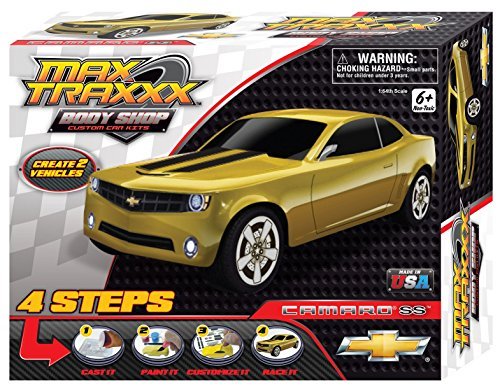 Max Traxxx Award Winning Body Shop PerfectCast Chevy Camaro SS Car Craft Kit (Kids Camaro Car compare prices)