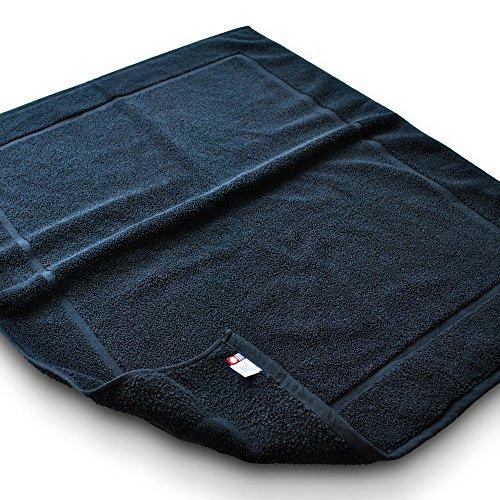 ブルーム 今治タオル レオン バスマット 綿100% コットンヤーン使用 大きいサイズ (ブラック) leon_bigmat_k