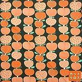 生地カットクロス kippis Omppu りんごKPOK-02Bグリーンオレンジ 【枚】