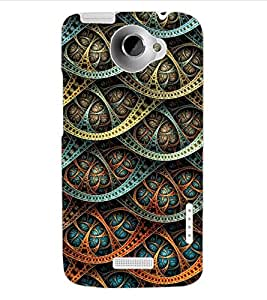 ColourCraft Beautiful Pattern Design Back Case Cover for HTC ONE X