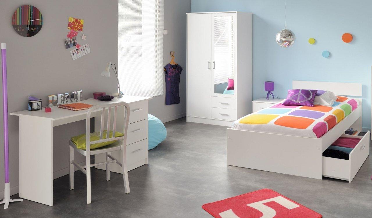 Jugendzimmer Kinderzimmer 4-teilig weiß Infena
