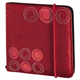 Hama Upto Fashion 24 CD/DVD Nylon Wallet - Red
