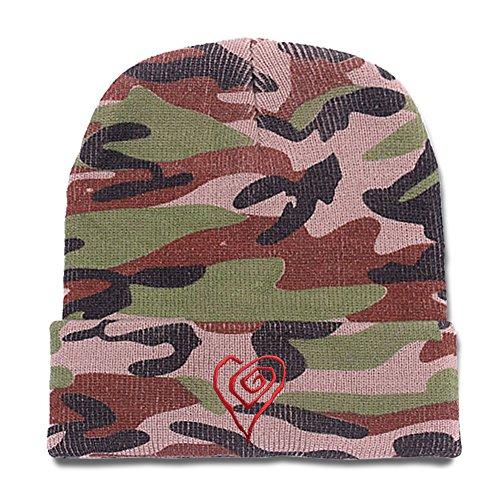 [Jeffrey Marilyn Manson Heart Logo Beanie Unisex Beanies Knitted Hats Skull Caps] (Mobscene Costume)