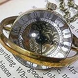 【選べる2種】アンティーク 調 ネックレス 懐中時計 手巻き スケルトン 水晶 魚眼(A)