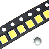 Chanzon 100 pcs 2835 White SMD LED Diode Lights (Surface Mount Chip 2.8mm x 3.5mm DC 3V 150mA 0.5W 50-55LM) High Intensity Super Bright Lighting Bulb Lamps Electronics Components Light Emitting Diodes (Color: A) White (100pcs))