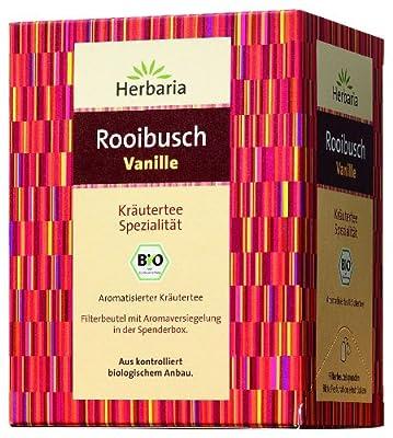 Herbaria Rooibusch Vanille 15FB , 3er Pack (3x 30 g Beutel) - Bio von Herbaria - Gewürze Shop