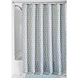 InterDesign Karlyn Shower Curtain, 72 by 72-Inch, Gray/Blue
