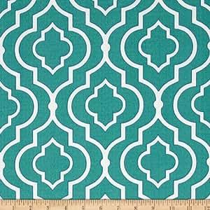 Amazon.com: Swavelle/Mill Creek Indoor/Outdoor Starlet Teal Fabric By