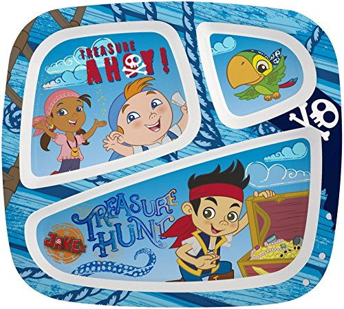 Zak! Designs Three-Section Plate - Jake and The Neverland Pirates - 1