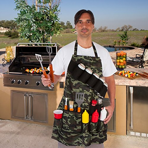 EZ Drinker Grill Master Grill Apron and Accessory Holds Beverages and Tools, Camouflage (Camo Bbq compare prices)