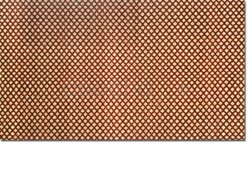 AGOCHA - Handmade 120x180 cm (4'x6') Diamond Pattern Rich Flat Weave Area Rug, Colour: Terracotta