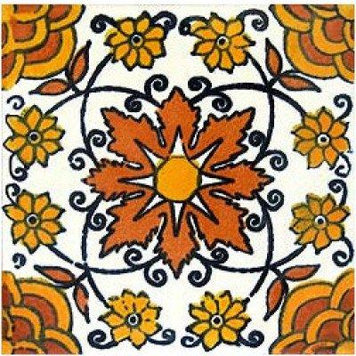 6x6 4 pcs Mori Talavera Mexican Tile