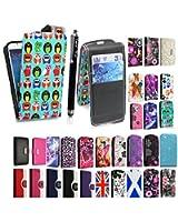Style Your Mobile Étui à rabat magnétique en cuir PU pour Samsung Galaxy S4 Mini i9190 Film protecteur d'écran et stylet inclus - - Multi Birds Card Pocket,