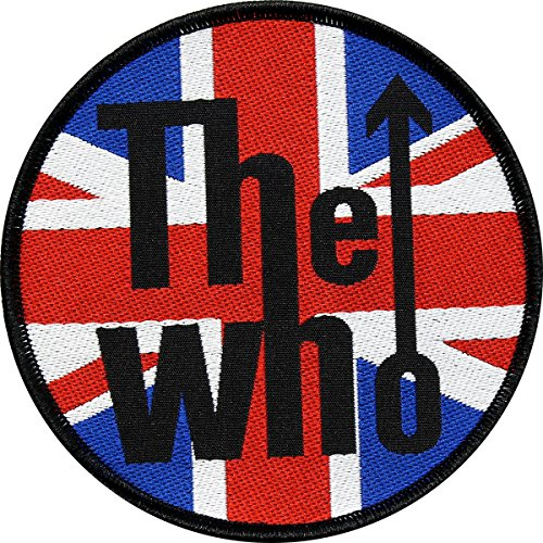 "Toppa con logo ""The Who"" e Union Jack, 9 cm"