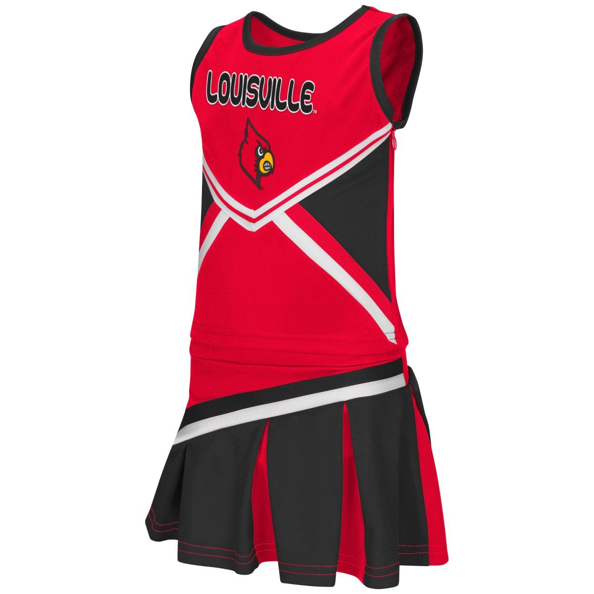 Louisville Cardinals NCAA Toddler Shout Cheerleader 2 Piece Outfit Set the colosseum