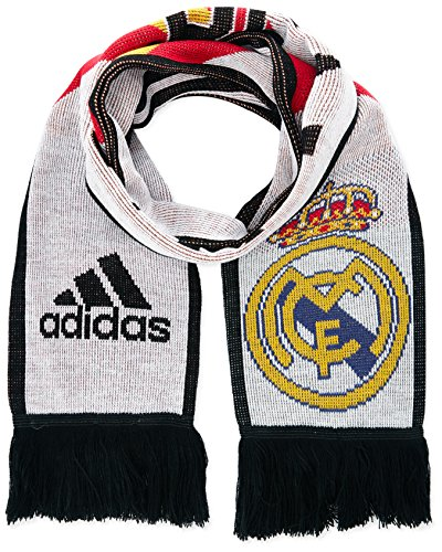 adidas, Sciarpa del Real Madrid, Multicolore (White/Poppy/Black), Taglia unica