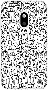 The Racoon Grip Music Jumble hard plastic printed back case / cover for Nokia Lumia 620