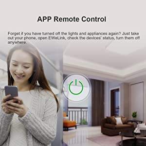 Sonoff Basic Smart Remote Control Wireless Switch Module Modified Low-cost Update Smart Home Solution with Timer for iOS Android Compatible with Alexa