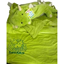 Snuggle Buds 3-in-1 Sleeping Bag Pillow & Plush Animal: Dragon
