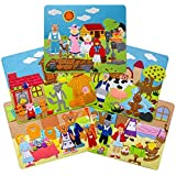 Hurricane Toys - Set of Five - Fairy Tales Felt Storyboards- Little Red Hen, Three Pigs, Goldilocks,gingerbread Boy and Little Red Riding Hood