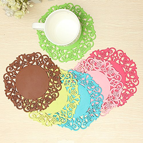 Silicone Coaster Nonslip Cup Mat Cushion Holder Drink Placemat