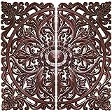 Design Toscano Carved Rosette Architectural Wall Sculpture, Walnut