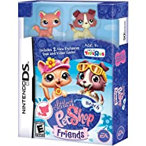 Nintendo DS Littlest Pet Shop & Friends Video Game Beach Bundle [Includes Cat & Dog]