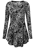 BAISHENGGT Women's Loose Fit Flared Tunic Top X-Large T06 Black