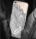 Luxury Bling 3D Angle Wings Hard Smartphone Cover for iPhone5 Silver