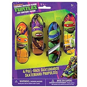 Teenage Mutant Ninja Turtles Skateboards, 4 Count