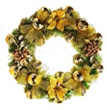 Santa Stores-Luxury Gold Wreath