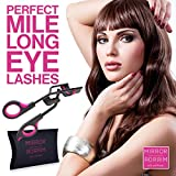 Eyelash Curler, Professional Salon Quality - As Used In Mirror Mirror Beauty & Leading Salons, The Best Eyelash Curler For Simple, Effective, Pinch & Pain Free Curling, Comes With Extra Refill Pad, & Travel Bag - Do You Want Longer More Dramatic Eyelashe