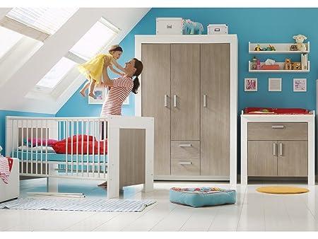 Babyzimmer SET 3 teilig pinie rustica Kinderbett Wickelkommode Kleiderschrank