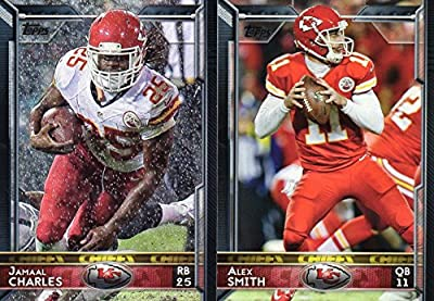 Kansas City Chiefs 2015 Topps NFL Football Complete Hand Collated Regular Issue 16 Card Team Set Including Alex Smith, Jamaal Charles Plus