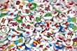 Pack of 100pcs shape 2 holes Christmas Stockings polywood 15mm buttons for Sewing Scrapbooking. from RayLinedo