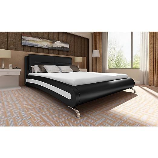 Letto alla francese moderno 140x200 letto design pelle