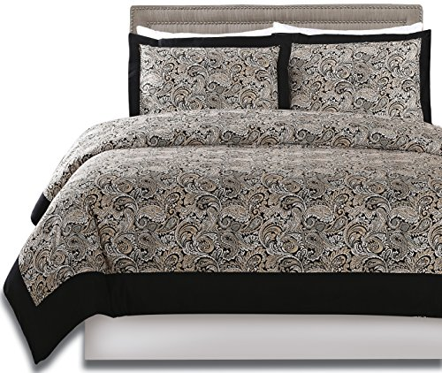 3 Piece Paisley Duvet Cover Set (Queen) - 1 Duvet Cover 2 Pillow Shams - Luxe Style Brushed Velvety Microfiber - Floral Pattern - Comfortable, Breathable, Soft & Extremely Durable - by Utopia Bedding (Allergy Duvet Cover King compare prices)