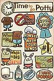 Karen Foster Design Acid and Lignin Free Scrapbooking Sticker Sheet, Time To Go Potty
