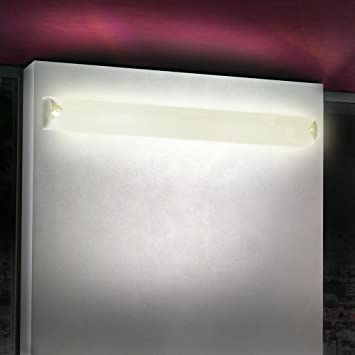 Wandleuchte Wand Beleuchtung Lampe Bad IP44 Glas Esto Chromo