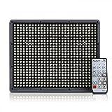 Amaran HR672W CRI95+ 672 LEDs Video Light DV Lamp with 2.4G FSK Wireless Remote for Nikon Canon Digital Camera Video Camcorder+2X Lithium F970 battery+Orange & White Diffusion Filters