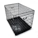 ペットに清潔な住まい プチリュバンペット ケージ XLサイズ ブラック 折りたたみ式 すのこつき スチール製 ペットケージ  ケイジ  犬用 イヌ いぬ