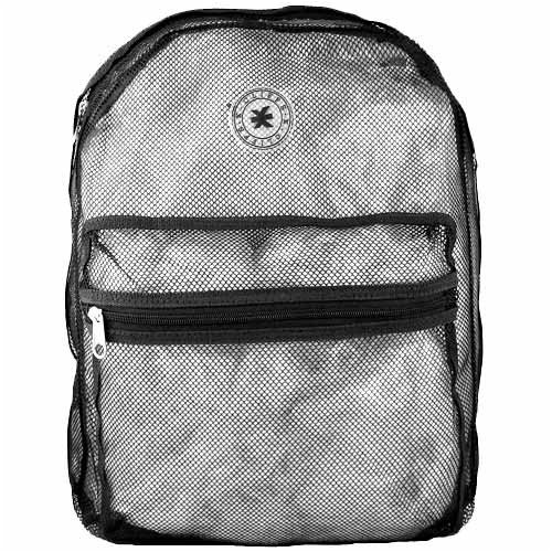 Great Features Of Black Color K-Cliff Mesh Backpack for School Student/ Clear Backpack/ School Backp...