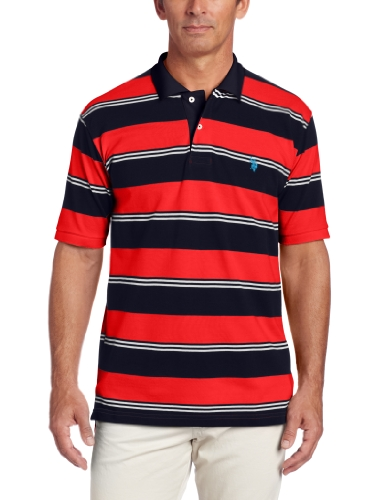 U.S. Polo Assn. Men'S Striped Polo, Classic Navy, Large