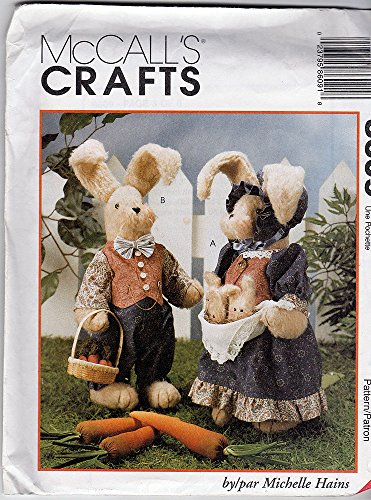 "McCall's Crafts 8609 ©1997 18"" Plush Bunnies by Michelle Hains - 1"