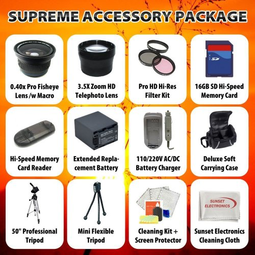Supreme Accessory Package For The Panasonic DMC-GH2 DMC-GF1 DMC-G2 Package Includes 16GB SD High Speed Memory Card, Hi Speed Card Reader, 0.40X Professional Fisheye lens With Macro Lens,Professional 3.5x Telephoto Lens,3 Piece Multi Coated Filter Kit