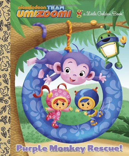 Purple Monkey Rescue! (Team Umizoomi) (Little Golden Book)